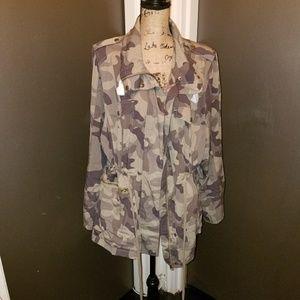 Camouflage anorak jacket